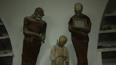 """""""The school masters and student"""" now in the caputine catacomb"""
