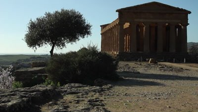 Temple of Concord in The Vally of the temples,Unesco World heritage site,viev to the ocean