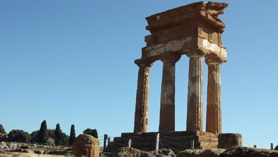 Te temple of Castor and Pollux,valley of the temples,World heritage site