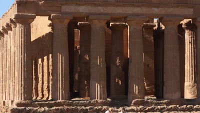 Temple of Concord,columns,in The Vally of the temples,Unesco World heritage site,viev to the ocean