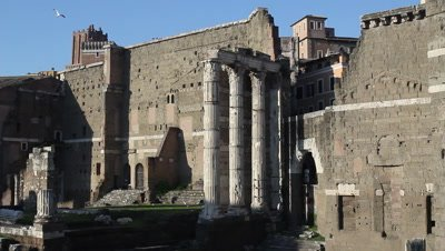 The temple of Mars Ultor in the forum of Augustus in Rome