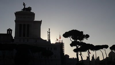 The monument of Victor Emmanuel ll in centre of Rome