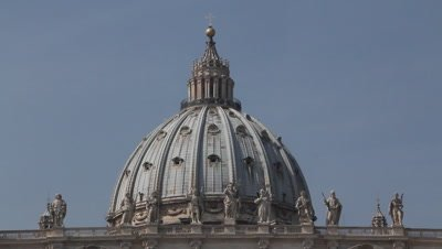 The St Peters church in Rome,the cupola designed by Michelangelo