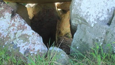 Megalith,Burial mounds,in the open land,entrance to the chamber,looking into the chamber