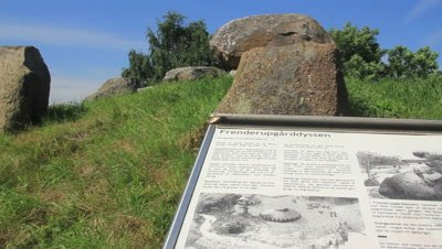 Megalith,Burial mounds,in the open land,information,explanatory plauqe