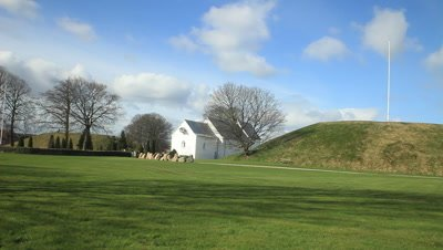10th centery burial mound of king Gorm,the south Mound