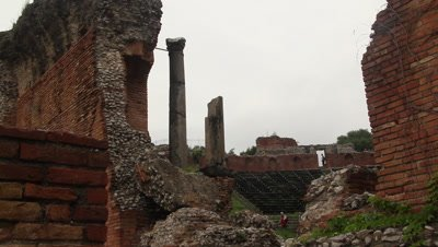 the ancient Greek amphitheater in Taormina