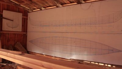 The construction drawings of the reconstruction of the Ladby viking ship