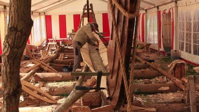 Preserving the planks on the reconstruction of the Ladby vikingship