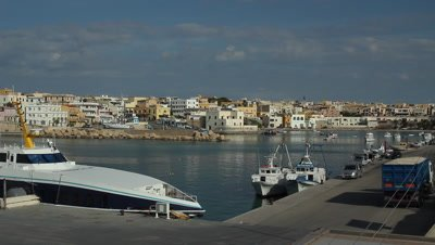 the port in lampedusa island