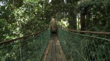 Walking Over Canopy Walkway