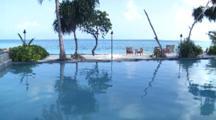 Swimming Pool With Infinity Edge, Four Seasons, Landaa Giraavaru, Baa Atoll, The Maldives