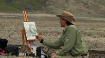 Painting In Auyuittuq National Park, Baffin Island