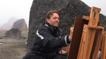 Painter In Auyuittuq National Park, Baffin Island
