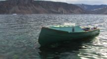 Iceberg Pan To Freighter Canoe, Near Qikitarjuaq, Baffin Island