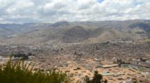 Cuzco Cusco Peru Panoramic Scenic From Above In The Mountains South America