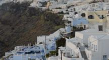 White Buildings In Wonderful Fira In Santorini Greece High Up On The Cliffs In Greek Islands Of Greece Europe