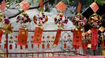 China, Macau. A-Ma Temple, The Oldest Temple In Macau. Temple Inspired By Confucianism, Taoism & Buddhism. Prayer Tree, Charms With Written Prayers Blow In The Wind To Send Prayers. UNESCO