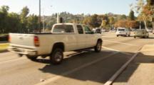 Cars At Intersection In Rancho Palos Verdes, California.