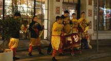 Musicians Perform For Ceremony In Chinatown In San Francisco, California, USA