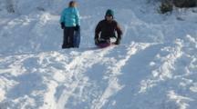 Sledding Action In Whitefish, Montana, USA. (MR)