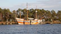 USA, North Carolina, Roanoke Island, Manteo, Ship Replica.
