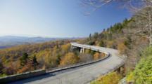 Linn Cove Viaduct On The Blue Ridge Parkway In North Carolina