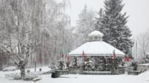 WA, Leavenworth, Bavarian Style Village, Gazebo At City Park