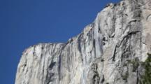 CA, Yosemite NP, El Capitan And Horsetail Falls