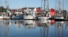 WA, Ilwaco, Fishing Boat And Cannery At Port Of Ilwaco