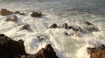 Waves Along Rocky Coast, Palos Verdes Peninsula, California