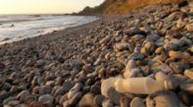 Rocks And Trash Along Rocky Coast, Palos Verdes Peninsula, California