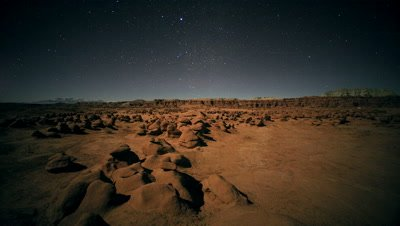 Stars and Moon Shadows,Goblin Valley State Park,UT