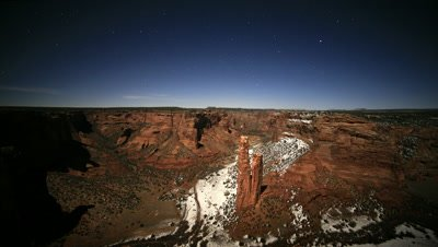Dusting of Snow at Canyon De Chelly National Park,AZ
