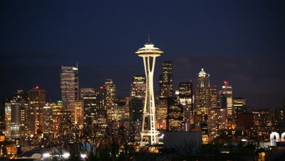 Seattle skyline with Space Needle,Seattle WA