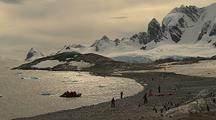 Visitors Come Ashore To See Penguins