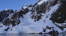Travelling Alongside Mountainous Antarctic Shoreline