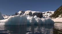 Boat  Pov Antarctic Icebergs