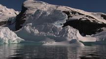 Travelling Past Antarctic Iceberg Scenic
