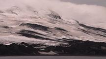 Antarctic Island Shoreline With Mountains