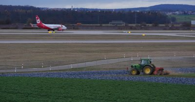 Passenger jet plane on the runway in the airport