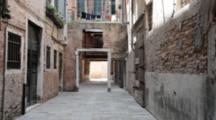 Empty Street In Venice, Old Buildings