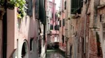 Old Buildings Border Narrow Venice Canal