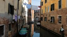 Laundry Drying Over The Canal In Venice