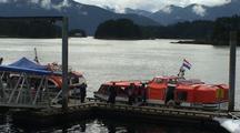 Cruise Ship Passengers Unloading