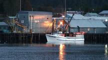 Commercial Fishing Boat Unloading At Fish Processor