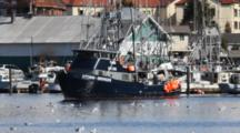 Commercial Fishing Boats At The Fish Processor
