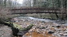 Polluted Water Enters A Small Stream, Bridge