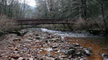 Water Polluted  Enters A Small Stream