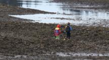 Kids With Their Fishing Poles & Gear